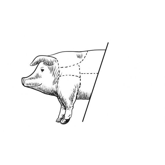 Demi porc préparé